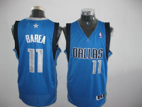 Mavericks 1 Barea Light Blue 2011 Fianls Patch Jerseys