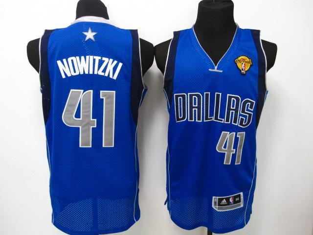 Mavericks 41 Nowitzki Light Blue 2011 Fianls Jerseys