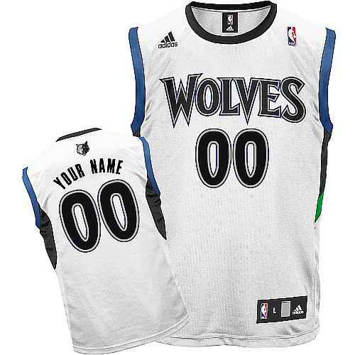 Minnesota Timberwolves Youth Custom white Round neck Jersey