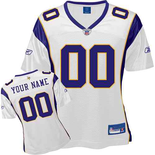 Minnesota Vikings Women Customized White Jersey
