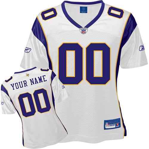 Minnesota Vikings Women Customized White Jersey