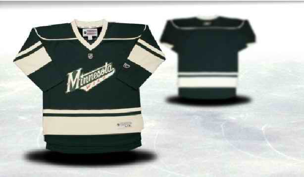 Minnesota Wild Youth Customized Green Third Jersey