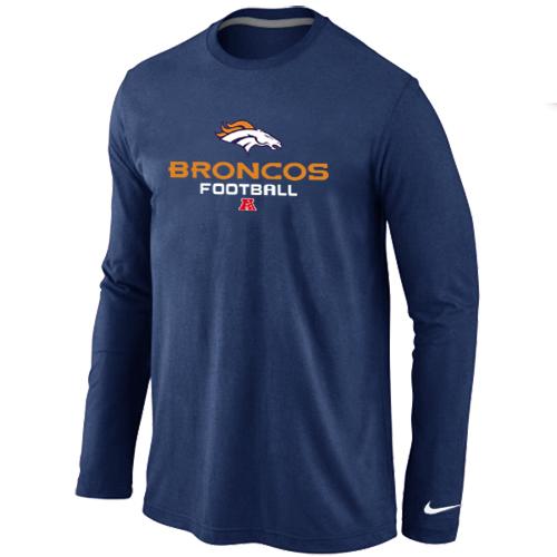 NIKE Denver Broncos Critical Victory Long Sleeve T-Shirt D.Blue
