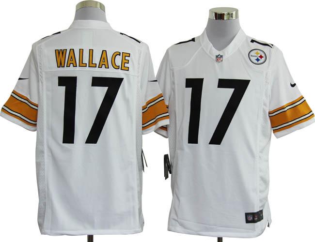 NIKE Steelers 17 WALLACE white Game Jerseys