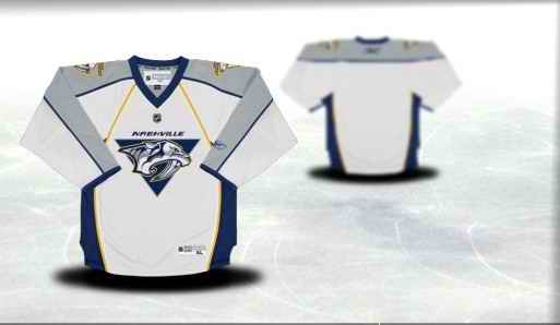 Nashville Predators Youth Customized White Jersey