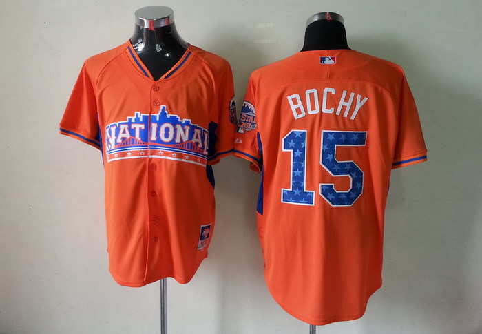 National League 15 Bochy orange 2013 All Star Jerseys
