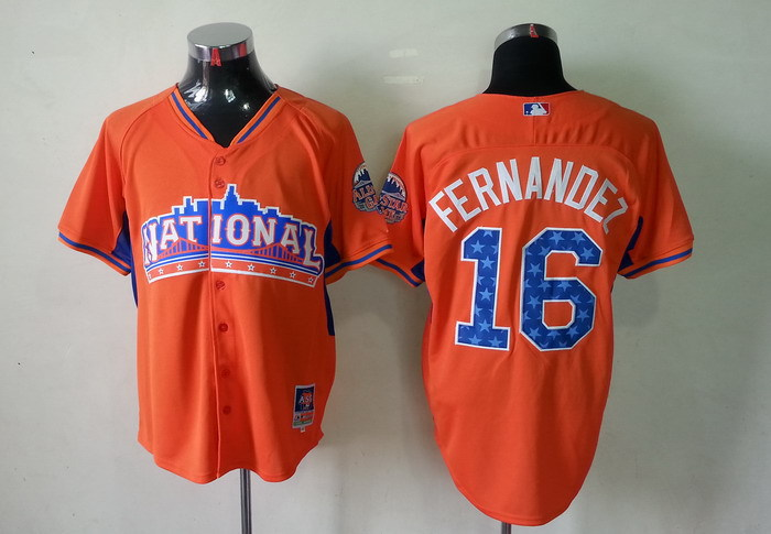 National League 16 Fernandez orange 2013 All Star Jerseys