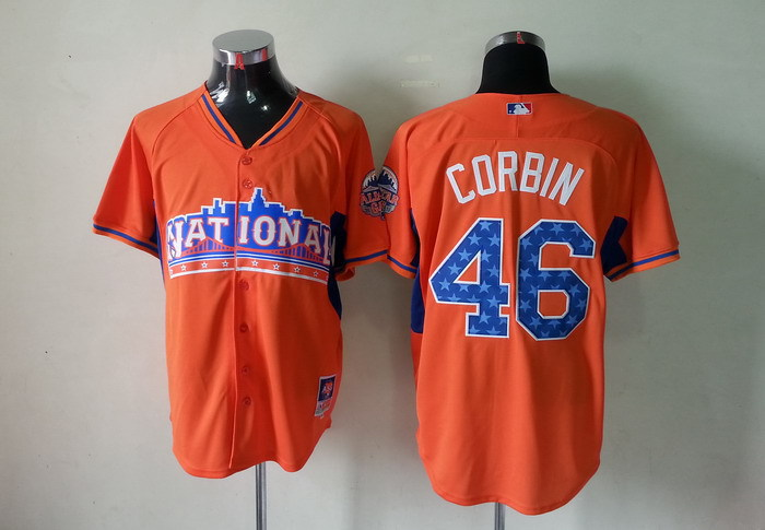 National League 46 Corbin orange 2013 All Star Jerseys