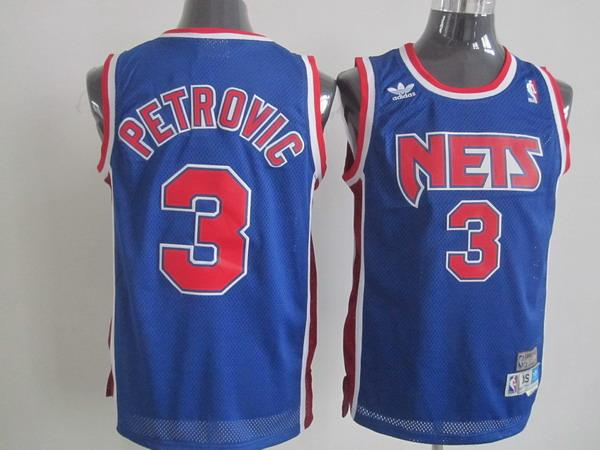 Nets 3 Petrovic blue Jerseys