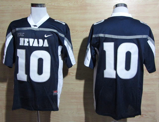 Nevada Wolf Pack 10 Kaepernick Dark Blue Jerseys