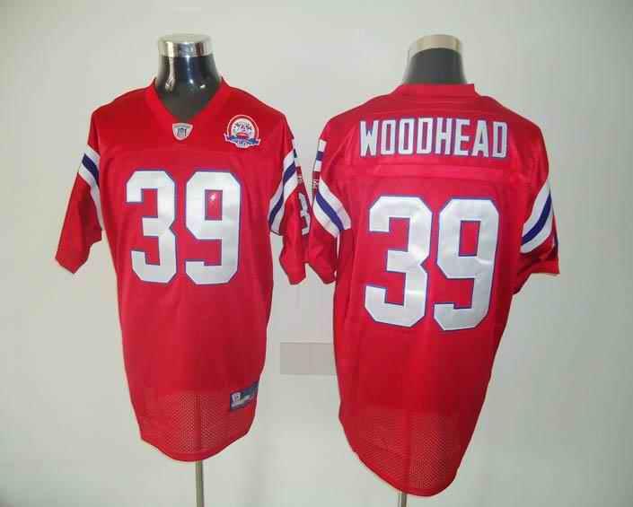 New England Patriots 39 Danny Woodhead red Jersey