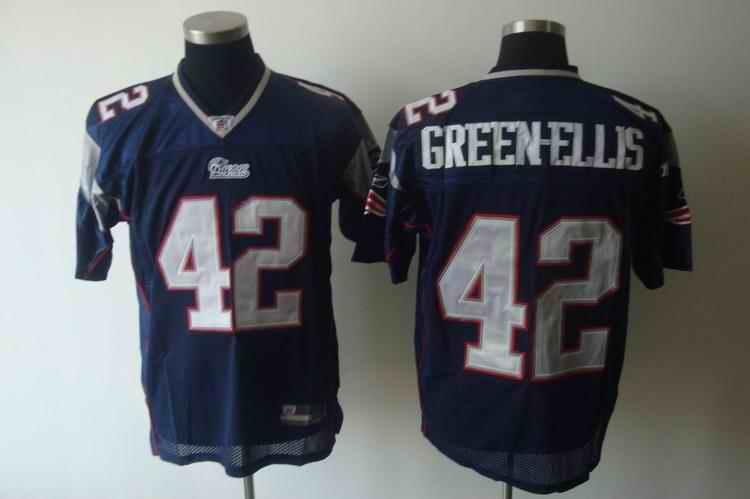New England Patriots 42 Gveen-Ellis blue Jerseys