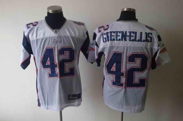 New England Patriots 42 Gveen-Ellis white Jerseys