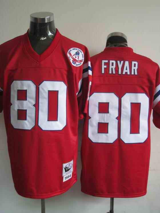 New England Patriots 80 Irving Fryar Red Throwback Jerseys
