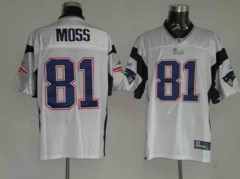 New England Patriots 81 Randy Moss White Jerseys
