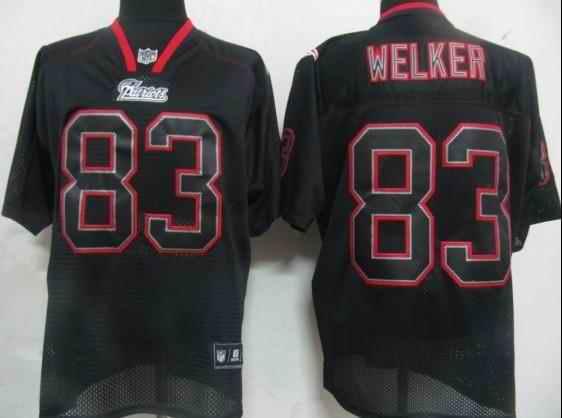 New England Patriots 83 Welker black field shadow Jerseys
