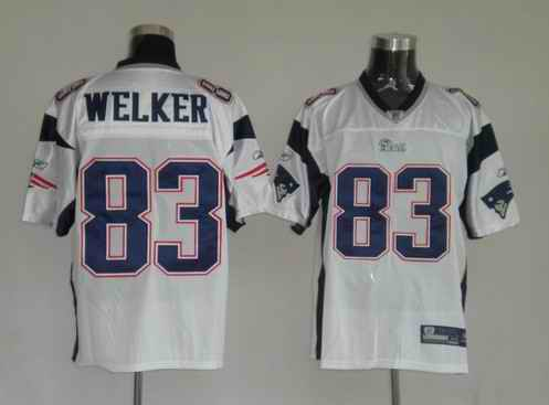 New England Patriots 83 Wes Welker White Jerseys