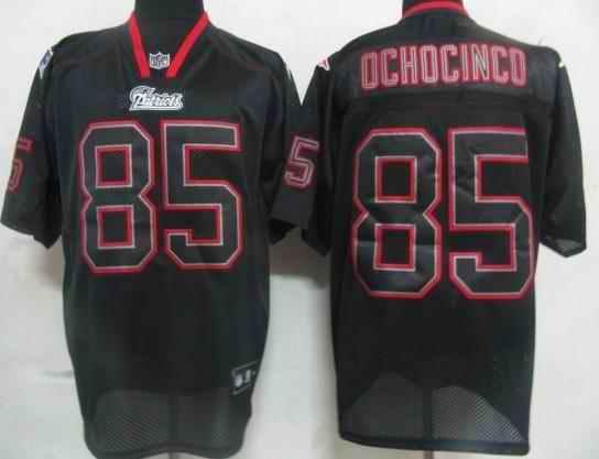 New England Patriots 85 Ochocinco black field shadow Jerseys