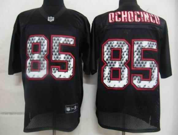 New England Patriots 85 Ochocinco black united sideline Jerseys