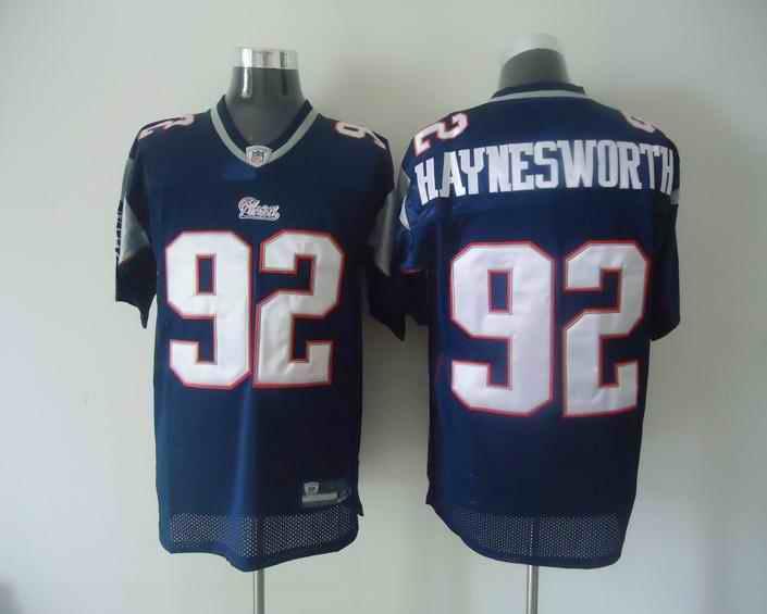 New England Patriots 92 Haynesworth blue Jersey