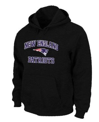 New England Patriots Heart & Soul Pullover Hoodie Black
