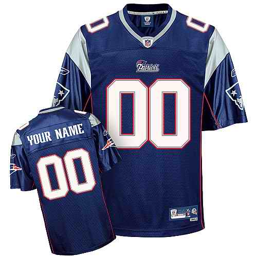 New England Patriots Men Customized blue Jersey