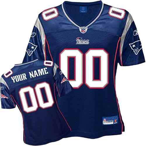 New England Patriots Women Customized Blue Jersey