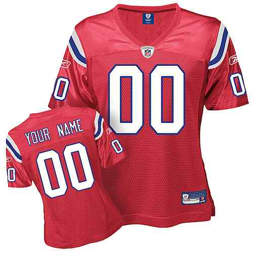 New England Patriots Women Customized Red Jersey