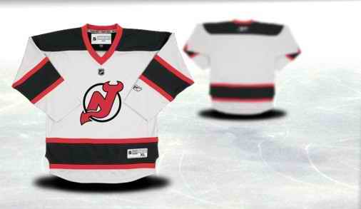 New Jersey Devils Youth Customized White Jersey