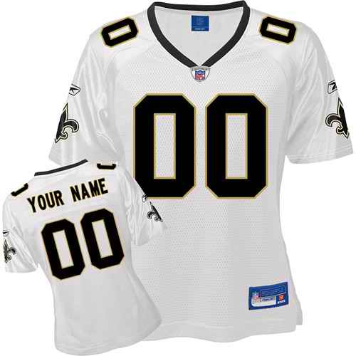 New Orleans Saints Women Customized White Jersey
