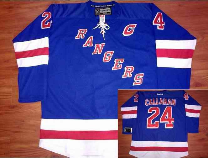New York Rangers 24 CALLAHAN Blue Jerseys