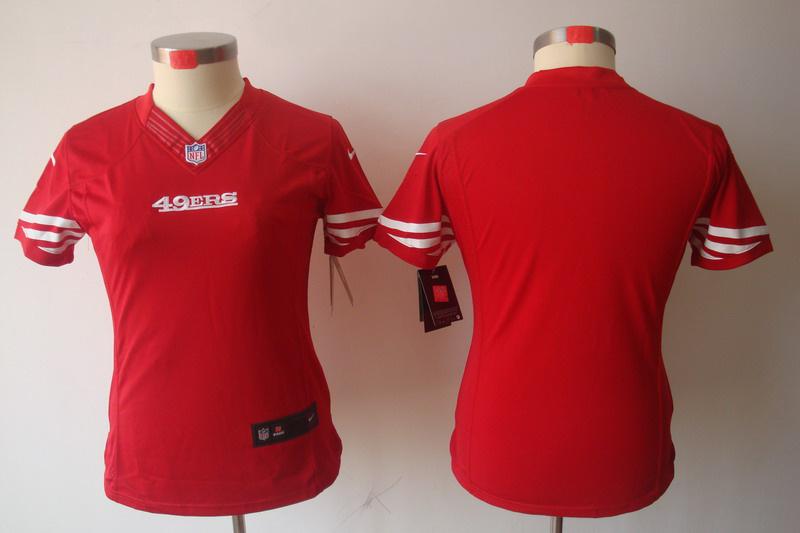 Nike 49ers Blank Red Women Limited Jerseys