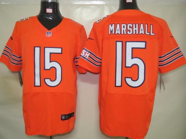 Nike Bears 15 Marshall Orange Elite Jerseys