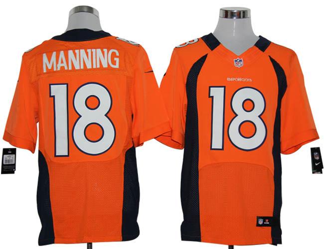 Nike Broncos 18 Manning orange elite jerseys