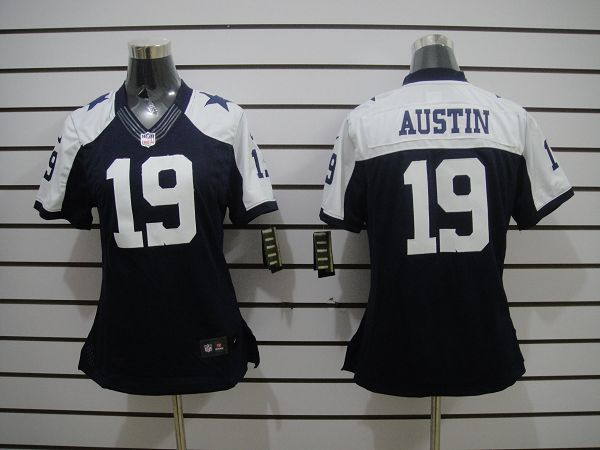Nike Cowboys 19 Austin Blue Thanksgiving Women Limited Jerseys