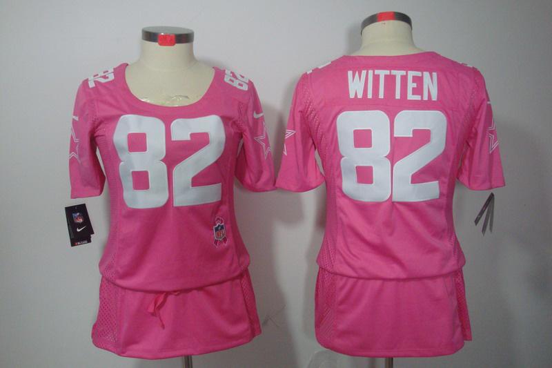 Nike Cowboys 82 Witten Pink Women Elite Skirts
