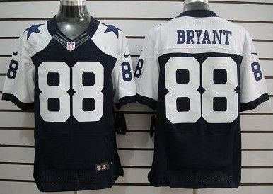 Nike Cowboys 88 Bryant Blue Thanksgiving Elite Jerseys