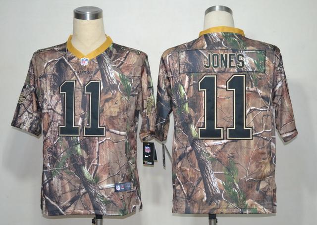 Nike Falcons 11 Jones Camo Elite Jerseys