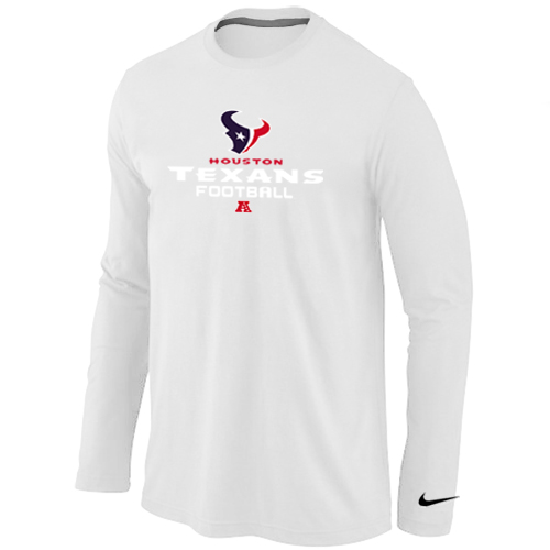 Nike Houston Texans Critical Victory Long Sleeve T-Shirt White