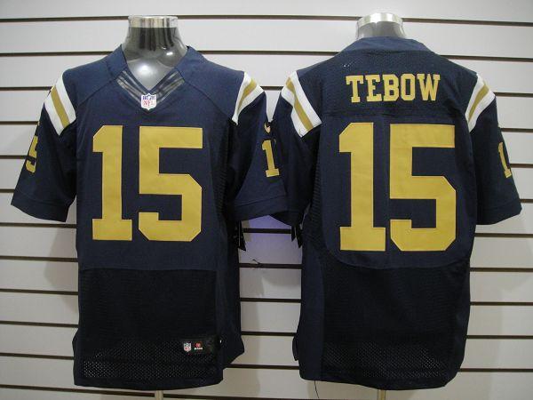 Nike Jets 15 Tebow Dark Blue Elite Jerseys