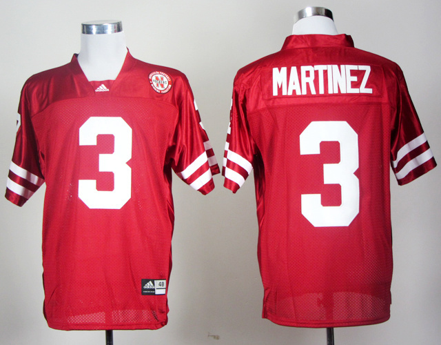 Nike NCAA Nebraska Cornhuskers MARTINEZ 3 Red Men Jerseys