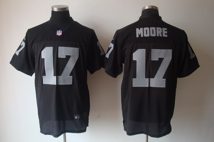 Nike Raiders 17 Moore black elite jerseys