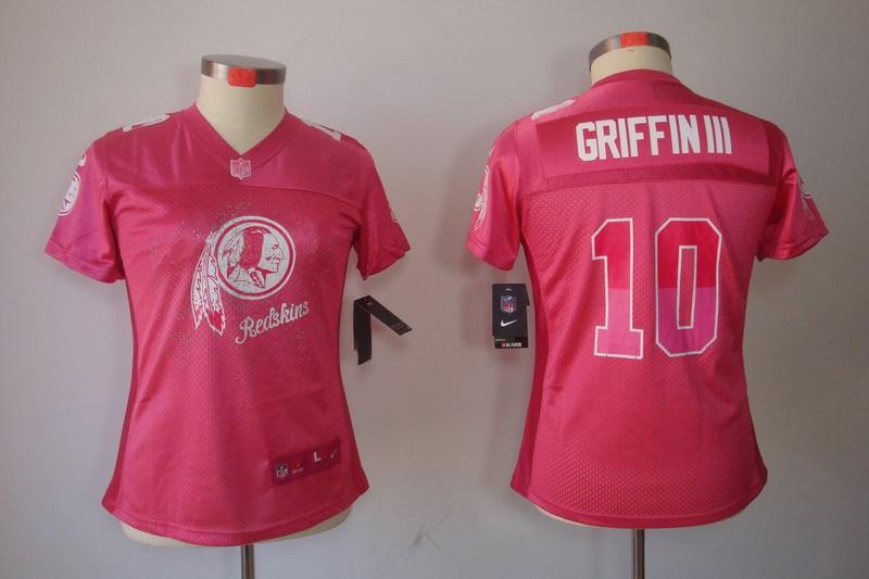 Nike Redskins 10 Griffin III Pink Fem Fan Women Elite Jerseys