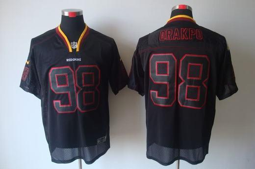 Nike Redskins 98 Orakpo Lights Out Black Elite Jerseys
