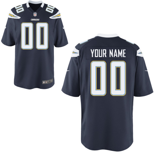 Nike San Diego Chargers Youth Customized Game Team Color Jersey