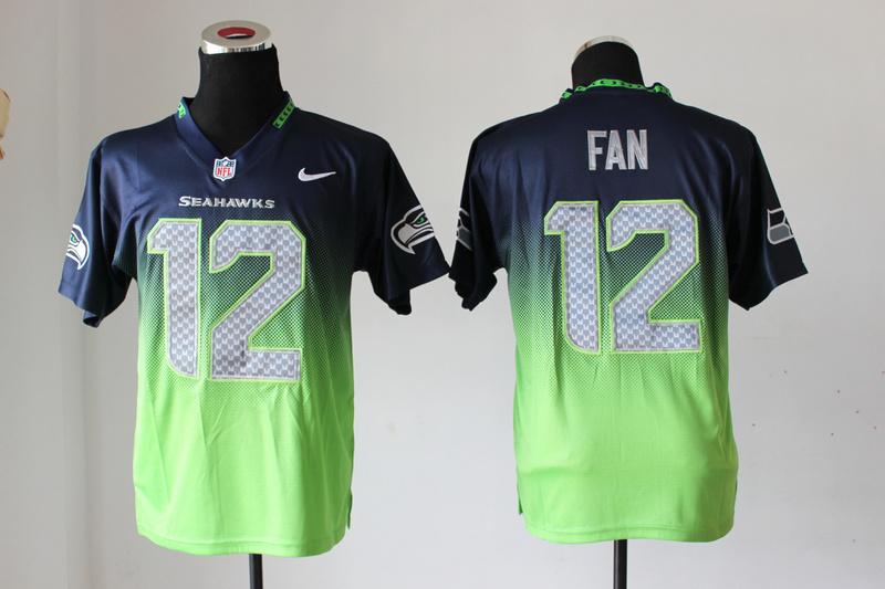 Nike Seahawks 12 Fan Fadeaway Elite Drift II Jersey