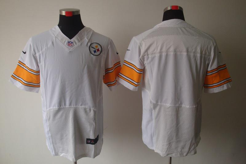 Nike Steelers Blank White Elite Jerseys