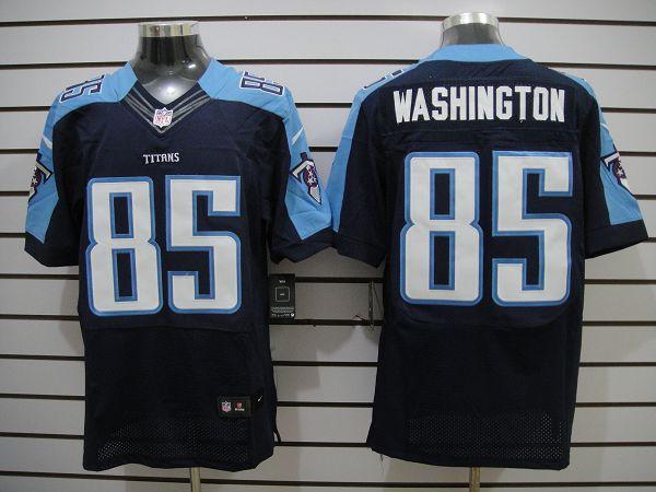 Nike Titans 85 Washington Dark Blue Elite Jerseys