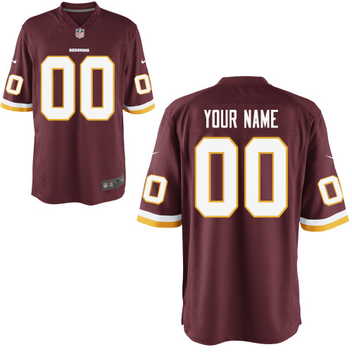 Nike Washington Redskins Youth Customized Game Team Color Jersey#12640291