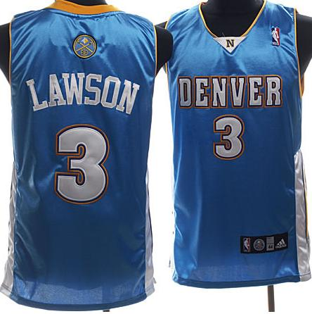 Nuggets 3 Lawson Baby Blue Jerseys